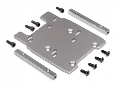 Motorplatte (grau/4mm) HPI 115354