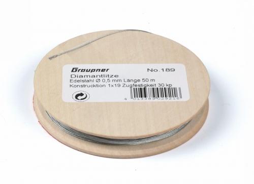 Diamantlitze Durchmesser 0,5 mm Graupner 189