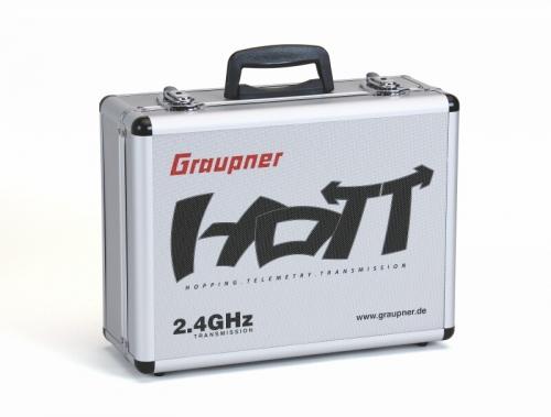 Alu-SenderkofferHoTT 400x300x150für mx und mc Sender Graupner 3080