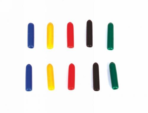 Zierkappen bunt gemischt lang (10 Stück) Graupner 33001.52