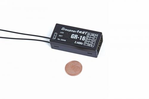 Empfänger GR-16 HoTT2.4 GHz 8 Kanal Graupner 33508