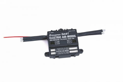 Electric Air Modul Graupner HoTT, Vario, 2x Temperatur, 2x Spannung, Einzelzellenspannungen 2 - 14 S Graupner 33620
