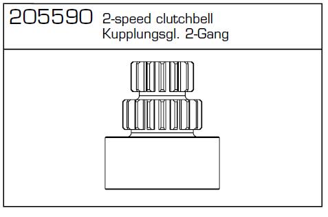 Kupplungsglocke 2Gang CY-Ch Carson 205590