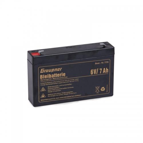 Bleiakku 6 V/7 Ah Graupner 775