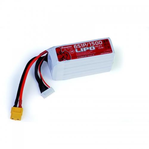 Power Pack LiPo 6/1500 22,2 V Graupner 78115.6