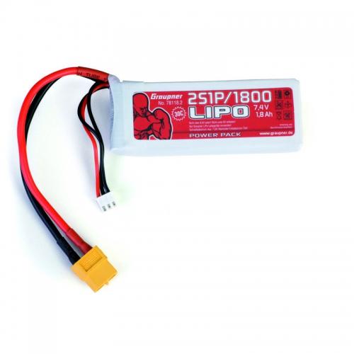 Power Pack LiPo 2/1800 7,4 V Graupner 78118.2