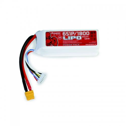 Power Pack LiPo 6/1800 22,2 V Graupner 78118.6
