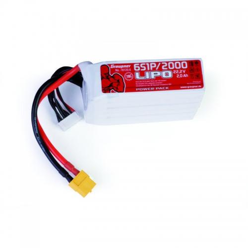 Power Pack LiPo 6/2000 22,2 V 70C XT60 Graupner 78120.6