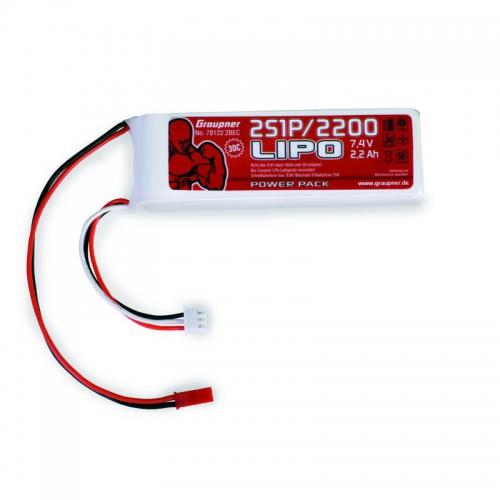 Power Pack LiPo 2/2200 7,4 V Graupner 78122.2BEC