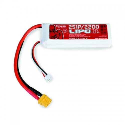 Power Pack LiPo 2/2200 7,4 V Graupner 78122.2