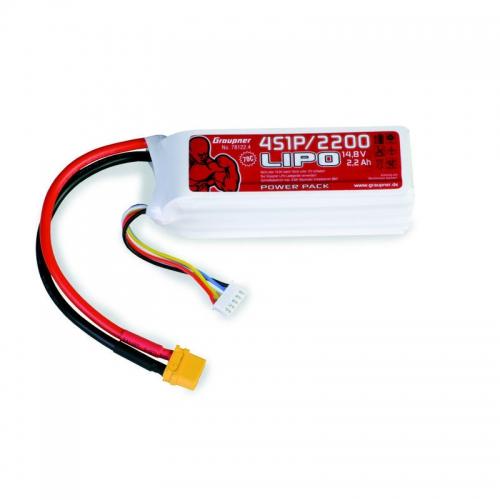 Power Pack LiPo 4/2200 14,8 V 70C XT60 Graupner 78122.4