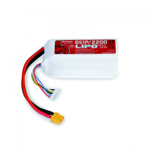 Power Pack LiPo 6/2200 22,2 V Graupner 78122.6