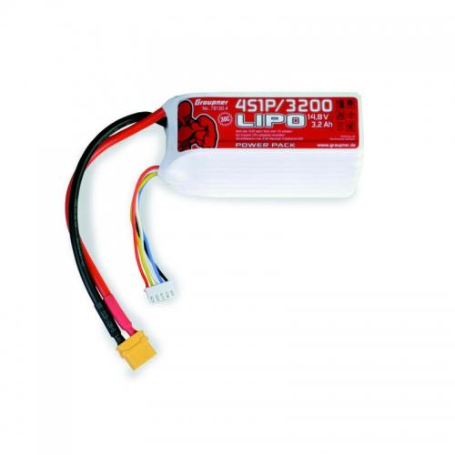 Power Pack LiPo 4/3200 14,8 V 30C XT60 Graupner 78130.4