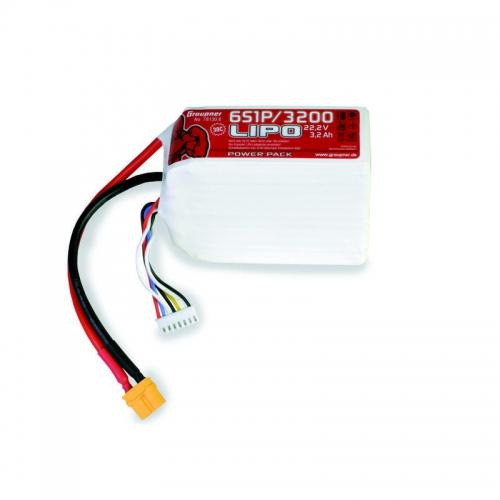 Power Pack LiPo 6/3200 22,2 V 30C XT60 Graupner 78130.6