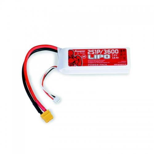 Power Pack LiPo 2/3600 7,4 V Graupner 78136.2