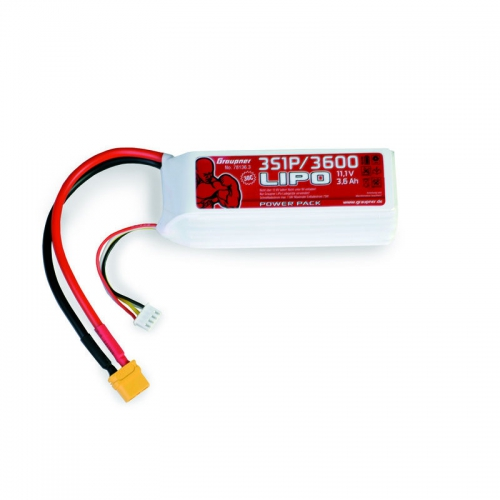 Power Pack LiPo 3/3600 11,1 V 30C XT60 Graupner 78136.3
