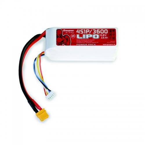 Power Pack LiPo 4/3600 14,8 V Graupner 78136.4