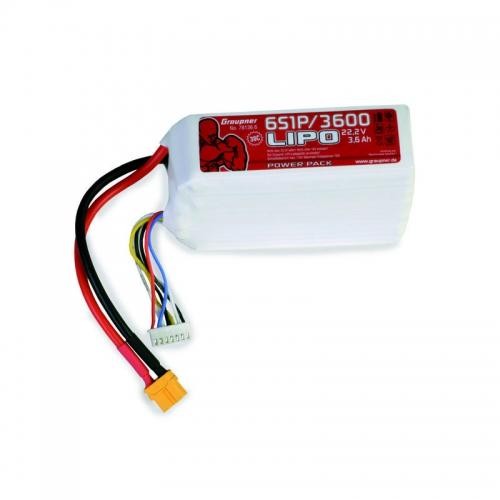 Power Pack LiPo 6/3600 22,2 V 30C XT60 Graupner 78136.6