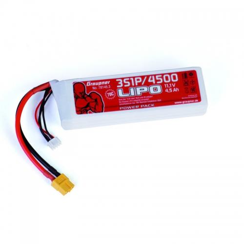 Power Pack LiPo 3/4500 11,1 V Graupner 78145.3