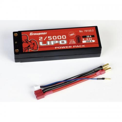 Power Pack Car Lipo2/5000 7,4V 100C Graupner 78150.2