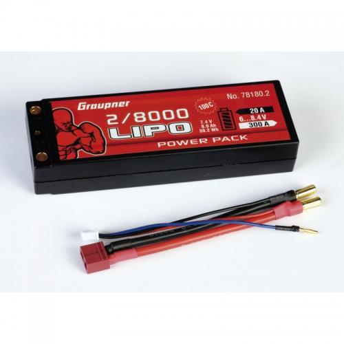 Power Pack Car Lipo2/8000 7,4V 100C Graupner 78180.2