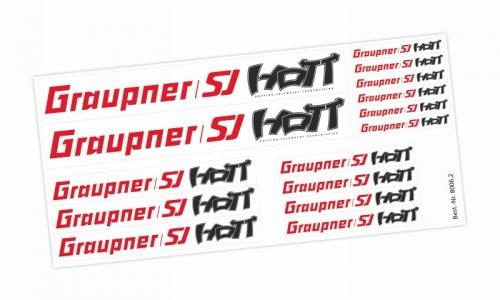 Klebeetikett Graupner/ SJ HoTT transp. Graupner 8006.2