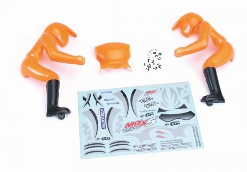Fahrerfigur + Decals(orange) Graupner 90190.67