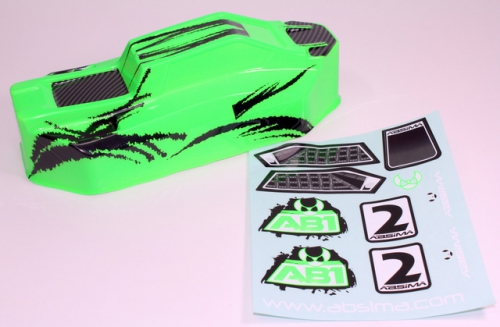 Karosserie grün 1:10 Hot Shot Buggy Brushed Absima 1230074