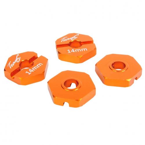 Aluminium Radmitnehmer 14mm orange 1:10 4WD  (4 St.) Absima TU0440OR