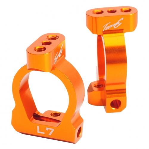 Aluminium Achsschenkelhalter 7° (2 St.) orange TM4 Comp. Buggy Absima TU0461