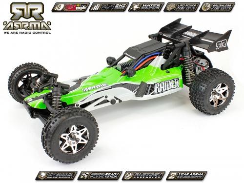 Arrma Raider Buggy, grün / RTR Revell RC Pro AR102021