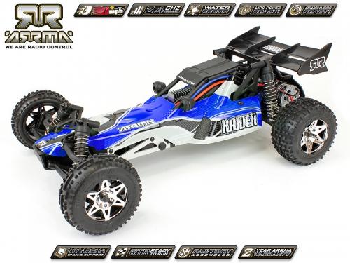 Arrma Raider Buggy, blau / RTR Revell RC Pro AR102041