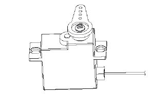Servo 17g/400mm HMG PC-6 Robbe 26230013