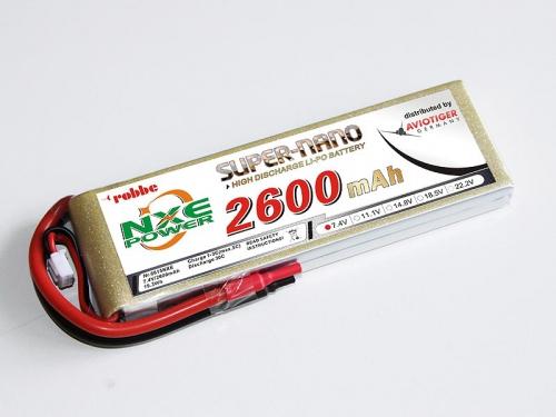 LiPo Akku robbe NXE-Power Evo 2S2600/30C Robbe 6615NXE