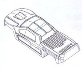 Flux Onslaught Karosserie lackiert Robbe BS218-017-Y