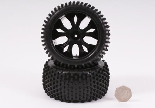 Felge und Reifen hinten Schwarz 1 Paar Robbe BS701-003BK