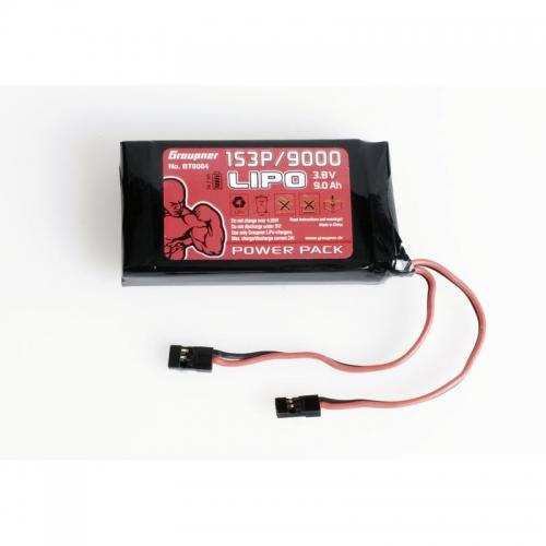 Senderakku TX LiPo 1S3P/9000 3,8V 34,2Wh Graupner BT8084