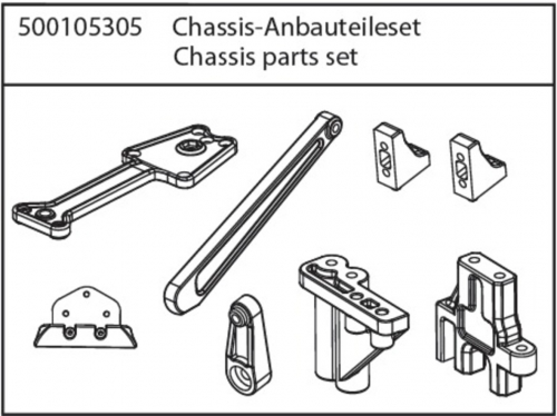 X10NB/NT Chassis Anbauteile-Set Carson 105305 500105305