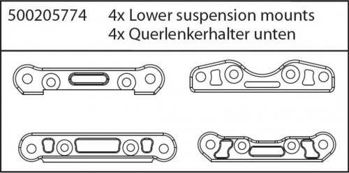 X8 Specter Querlenkerhalter unten Carson 205774 500205774