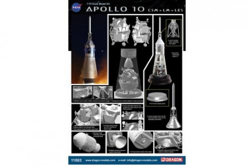 1:72 Apollo 10 CSM + LM + LES Carson 711003 500711003
