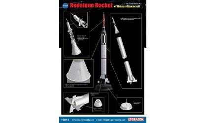 1:72 Redstone Rocket w/Mercury Spacecraf Carson 711014 500711014
