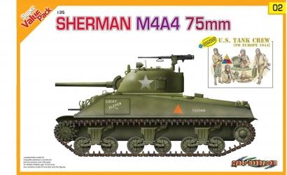 1:35 Sherman M4A4 75mm + U.S. Tank Crew Carson 729102 500729102