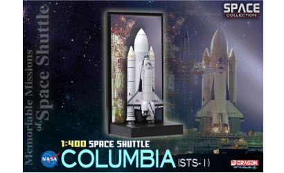 1:400 Space Shuttle Columbia w/SRB STS-1 Carson 756371 500756371