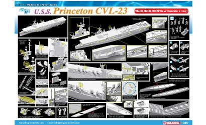 1:350 U.S.S. Princton CVL-23 (Smart Kit) Carson 771055 500771055