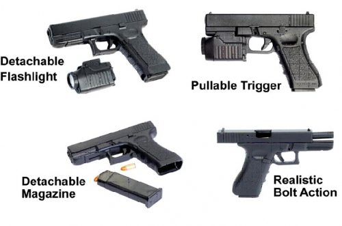 1:3 G17 W/Tactical Light + Gun Case Carson 771302 500771302