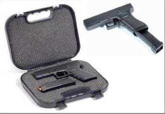 G17 W/Extended Magazine + Gun Case 1:3 Carson 771303 500771303