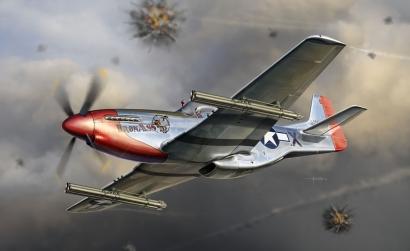 1:32 P-51K Mustang w/4.5-Inch M10 Rocket Carson 773224 500773224