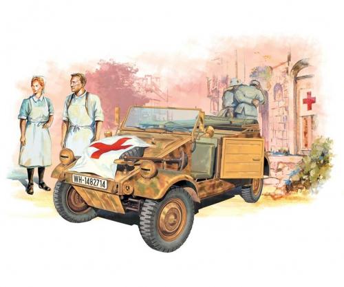 1:35 Kübelwagen Ambul.w/Ger.Medical Team Carson 776336 500776336