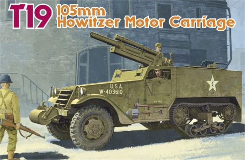 T19 105mm Howitzer Motor Carr. 1/35 Carson 776496 500776496