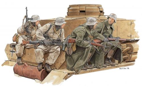 Winter Tank Riders 1943-44 1:35 Carson 776513 500776513